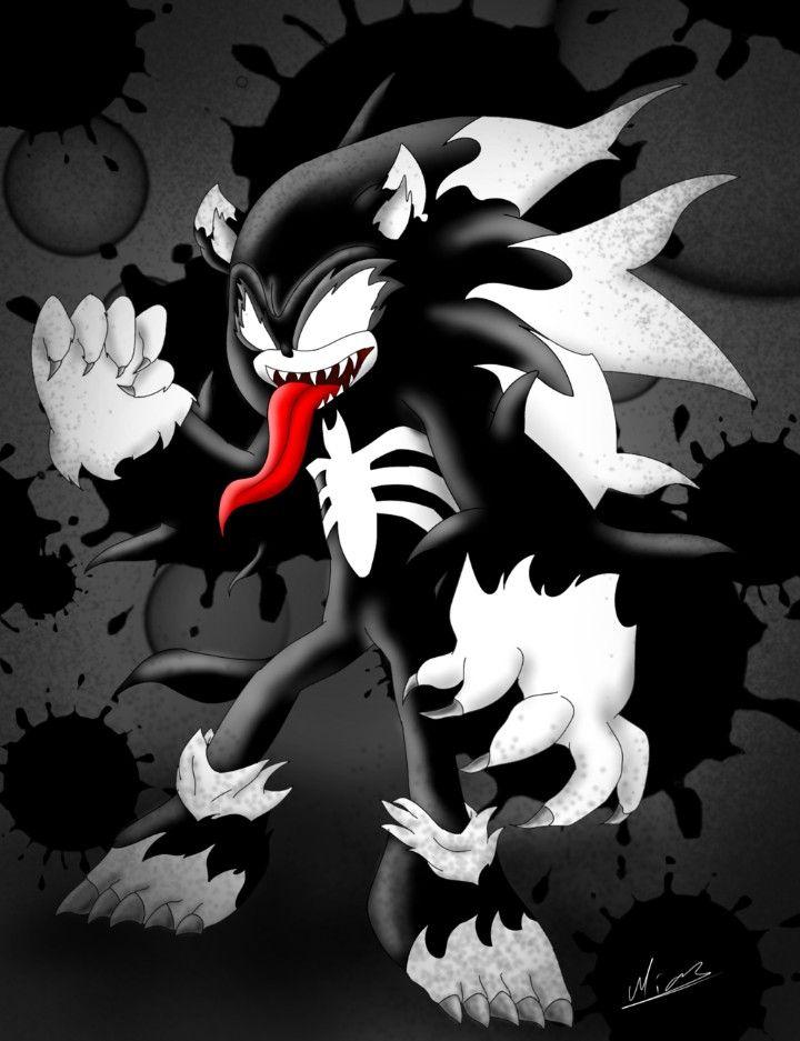 Super Venom Hedgehog From Sonic Boom 2025 Symbiote Minecraft Skin