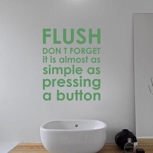 Photo of Happy Larry Wandsticker Flush Badezimmer Regeln | Wayfair.de