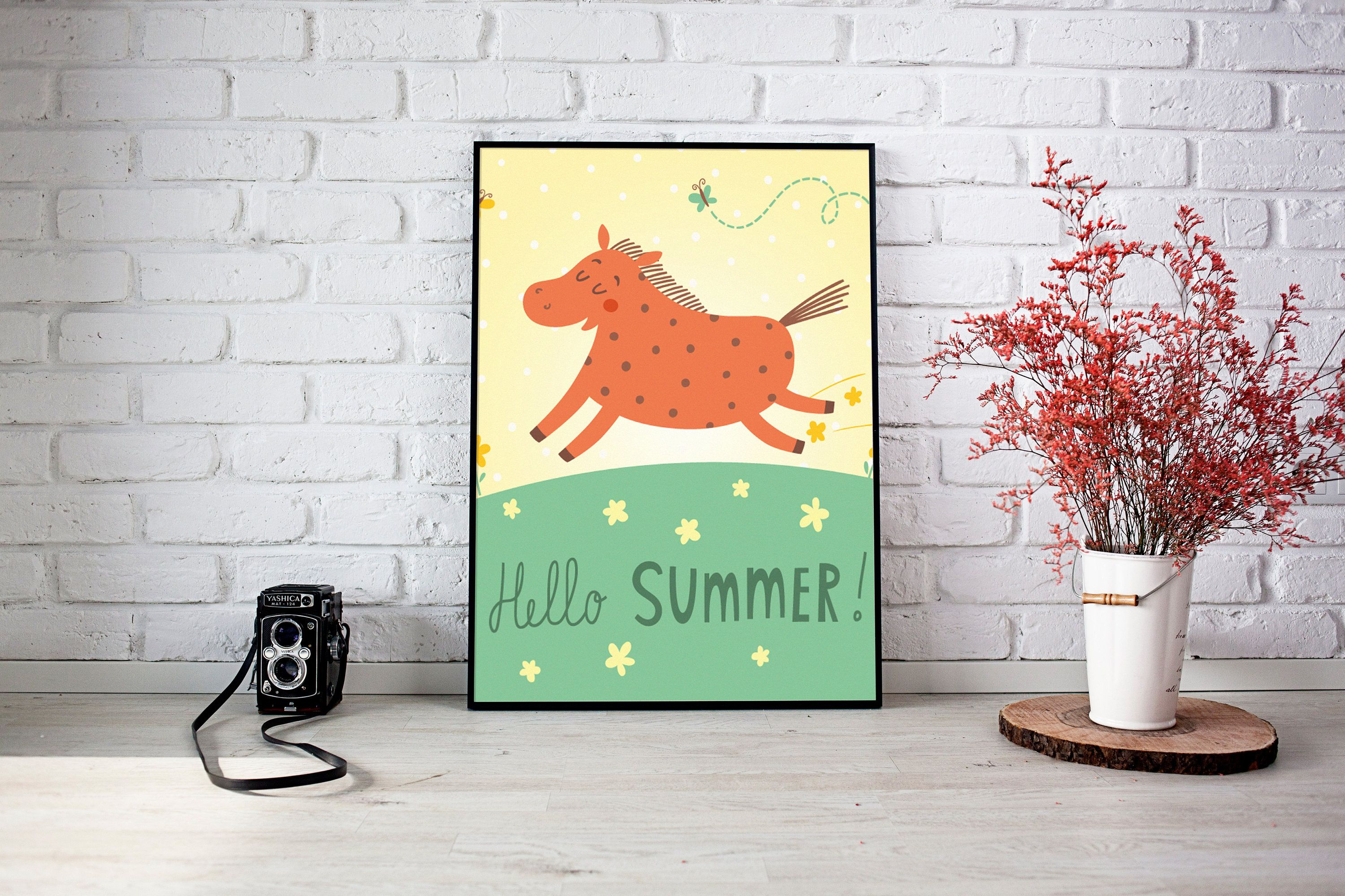 Excited To Share The Latest Addition To My #etsy Shop: Hello Summer  Illustration Art Nice Design