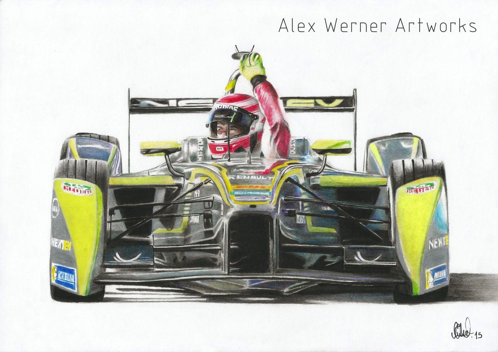 Alex Werner Artworks: Nelson Piquet Jr. - First Formula E victory - Long Beach 2015