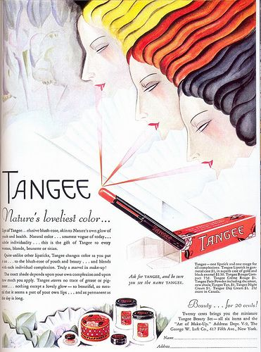 Tangee Cosmetics, 1929 | Flickr - Photo Sharing!