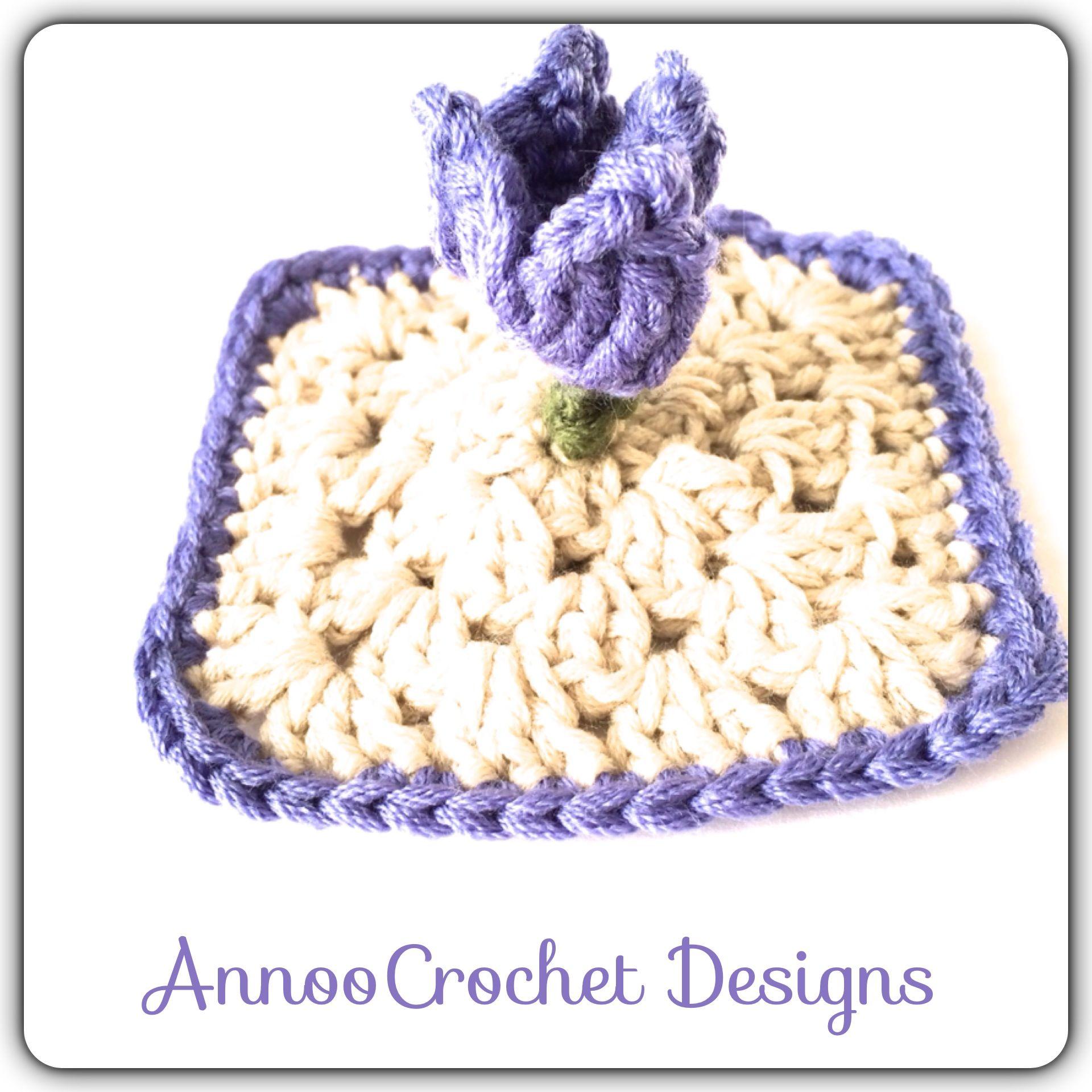 3D Crocus Granny Free Tutorial By AnnooCrochet Designs