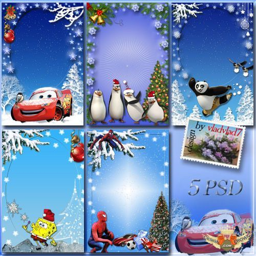 disney winter wallpaper great winter collection disney psd frames for children with cars - Disney Photo Frames