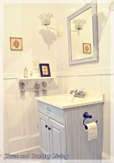 The cabinet is painted Anne Sloan Chalk Paint