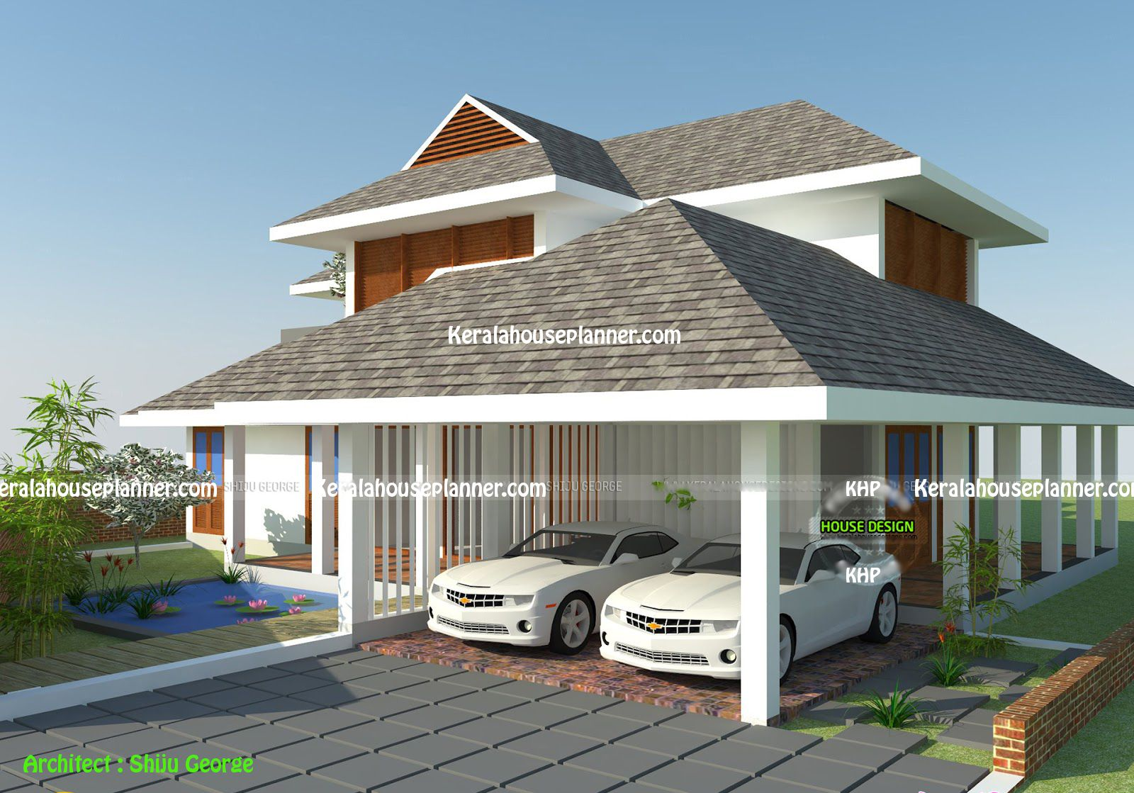 Sloping Roof House Design Designs India Plans Daylight Basement Lot