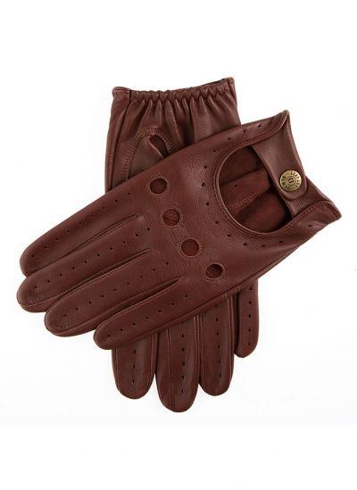 Les automobilistes Gants Voiture Conducteur gants vintage retro Peaux Cuir Marron