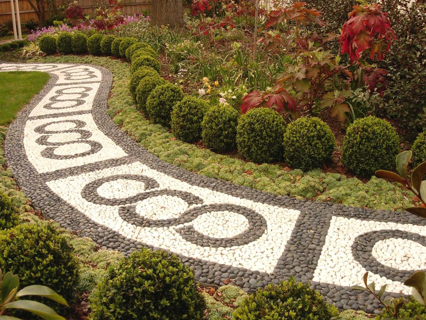 Magnificent Garden Pathways Designs Picture Collection - Brown ...