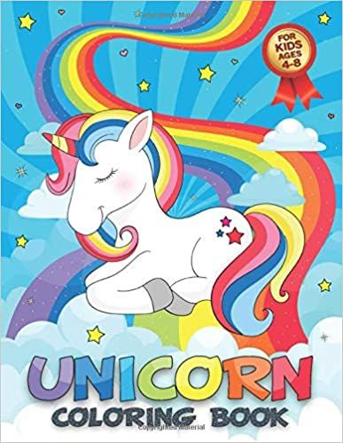 Unicorn Coloring Book For Kids Ages 4-8: Pro, 4Design ...
