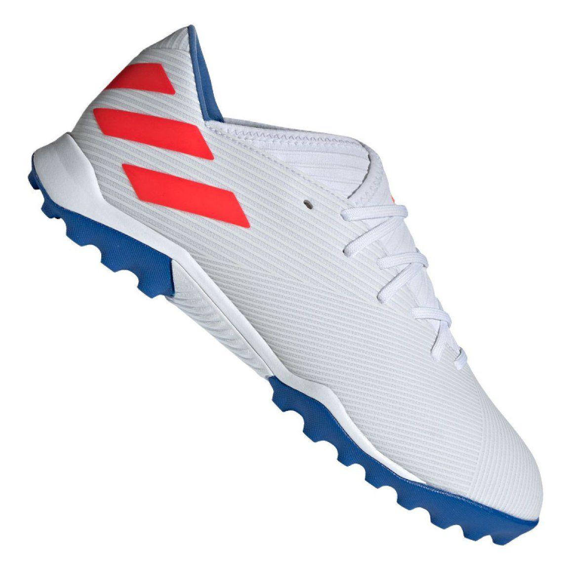 Buty Pilkarskie Adidas Nemeziz Messi 19 3 Tf M F34430 Biale Biale Messi Adidas Sport Shoes
