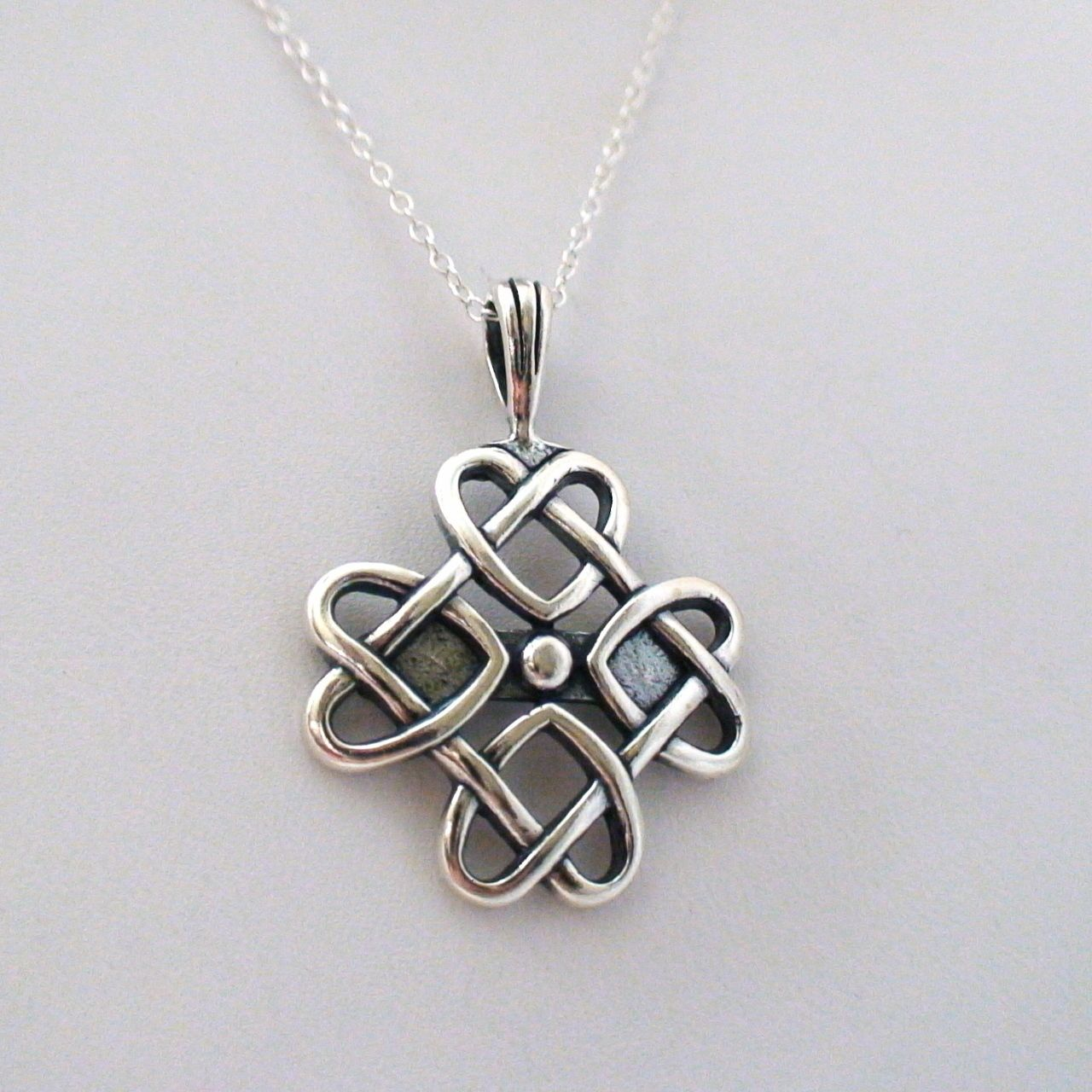 Celtic Love Knot Necklace - 925 Sterling Silver | κοσμηματα ...