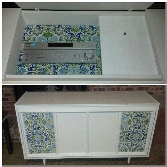 Upcycled And Updated Stereo Console.