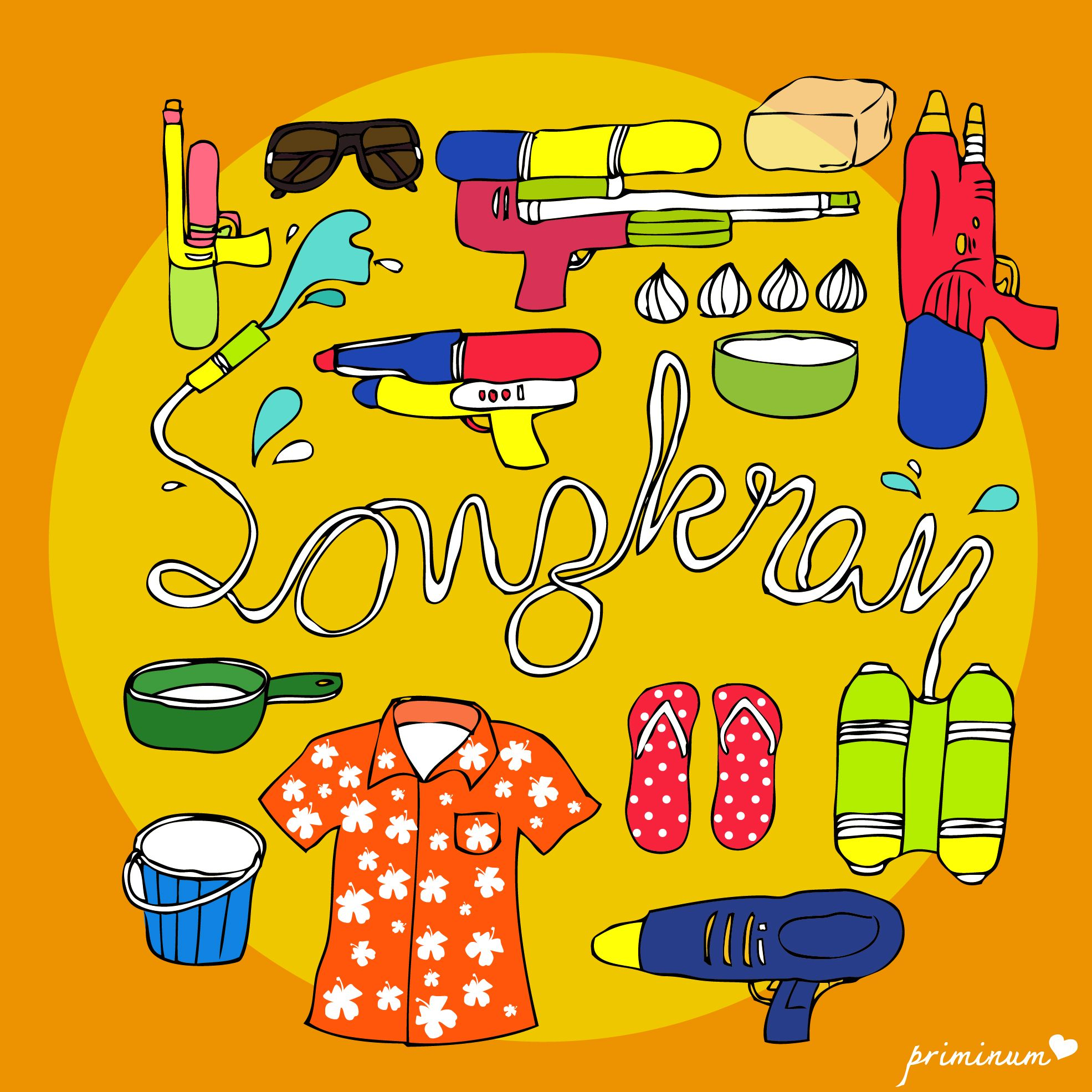 Prop For Songkran S Day Illustration Illustrator Drawing Draw