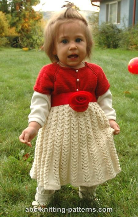 d9f46f807876 ABC Knitting Patterns - Toddler Christmas Dress | KNIT | Toddler ...