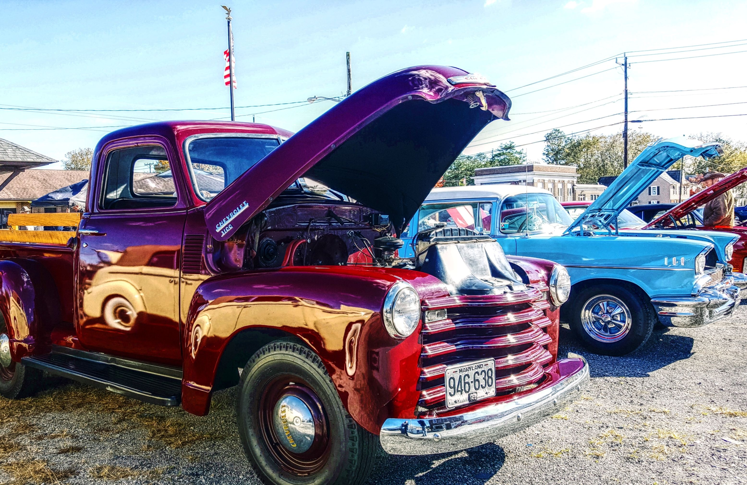 Old Truck At A Car Show In Hebron Maryland