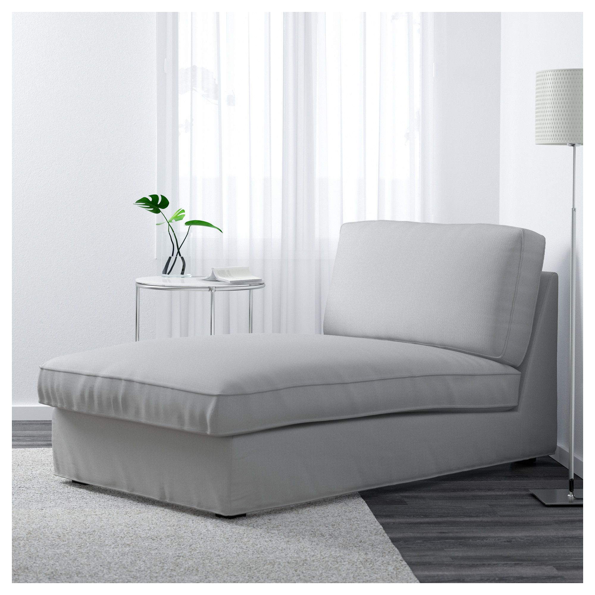 Swell Kivik Chaise Borred Gray Green Media Room Chaise Longue Squirreltailoven Fun Painted Chair Ideas Images Squirreltailovenorg