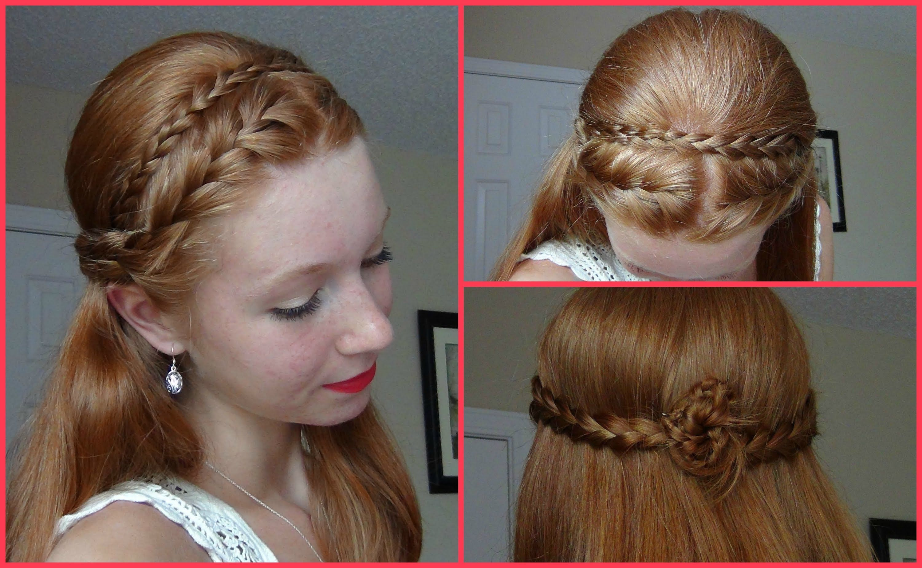 Summer 2013 Hairstyle! Half Up Half Down French Braided