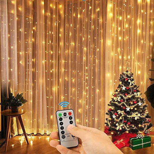 Amazon Com Kohree Window Curtain Lights Christmas String Light