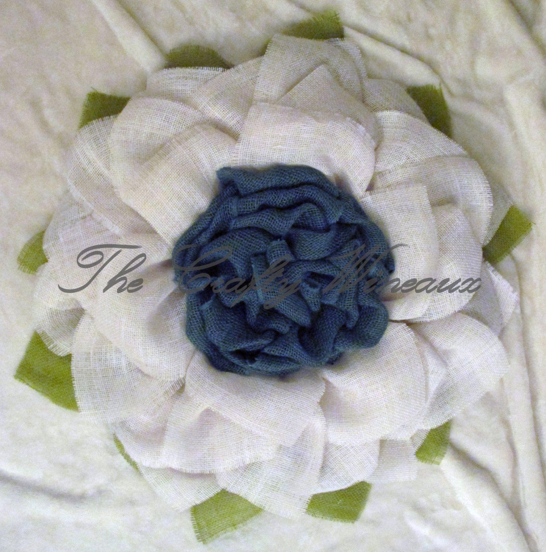 Burlap daffodil white flower with blue center burlap wreath burlap burlap daffodil white flower with blue center burlap wreath sunflower daffodil izmirmasajfo