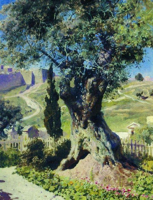 An Olive Tree in the Garden of Gethsemane - Vasily Polenov, 1882