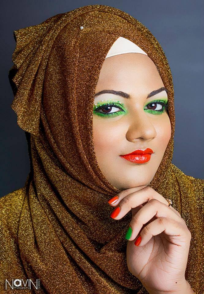 MODEL Yumma Angelo MUA + HIJAB Maldivian makeup artist