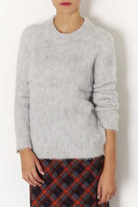 Knitted Brushed Funnel Jumper $100 #topshop