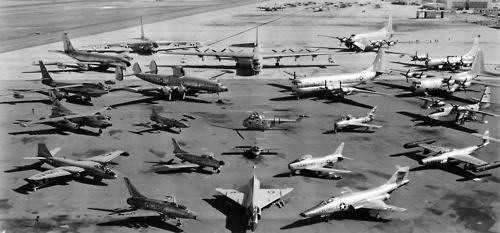 The US Air Force inventory, circa late '50s.