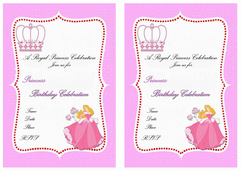 Princess Aurora Birthday Invitations | Free Printable Invitations ...