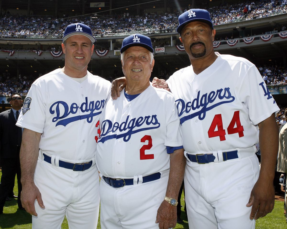 Steve Sax Tommy Lasorda Kenny Landreaux With Images