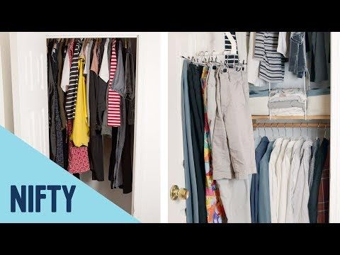 cd7dc299b35fa How To Maximize Space In A Small Closet - YouTube   Cleaning ...