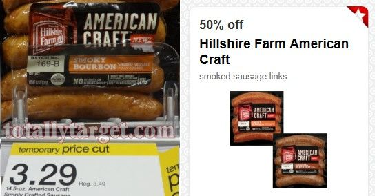 Target Hillshire Farm American Craft Smoked Sausage Only 0 64 Smoked Sausage Hillshire Farm Sausage