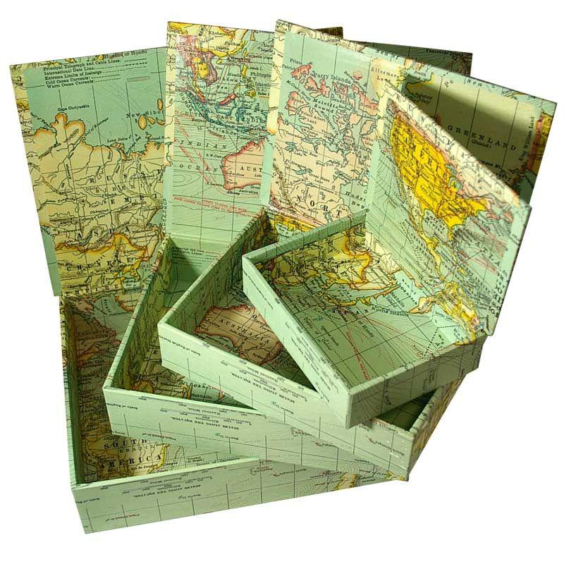 Decorative box set world map via zetta florence of australia decorative box set world map via zetta florence of australia gumiabroncs Image collections