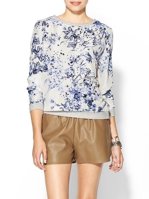 Floral print sweatshirt - $49