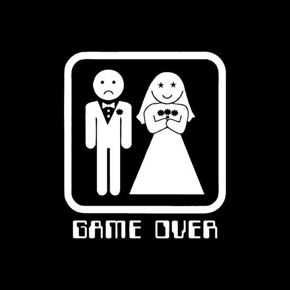 Bachelor Party Game Over Wedding Funny Mens T-shirt