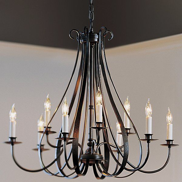 Hubbardton Forge Sweeping Taper: Hubbardton Forge Sweeping Taper Nine Arms Chandelier In