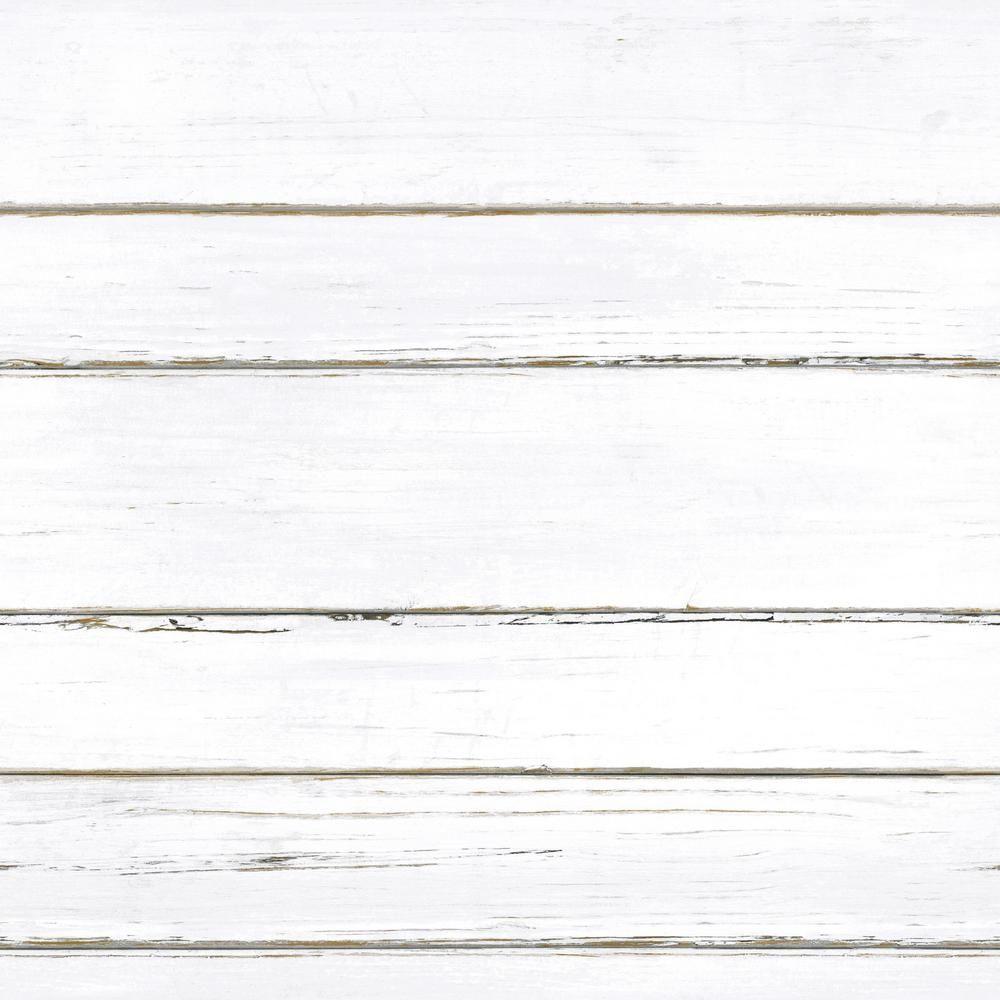 Roommates Shiplap Vinyl Peelable Wallpaper Covers 28 18 Sq Ft Rmk11240wp The Home Depot Peel And Stick Shiplap White Shiplap Shiplap Print