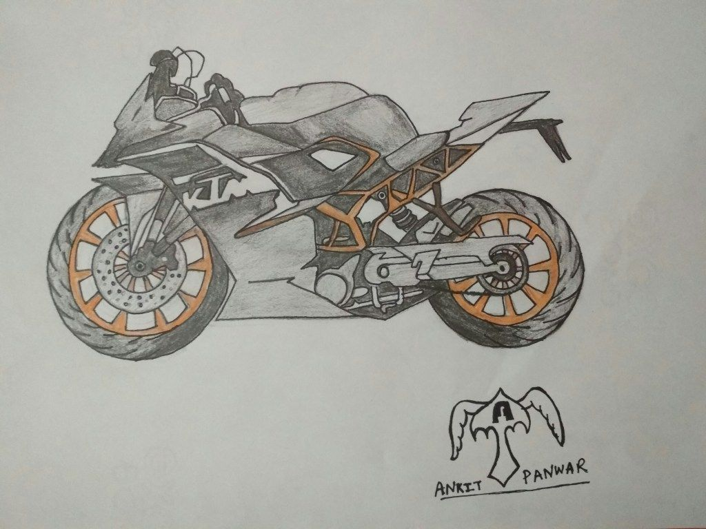 Today We R Going To Do Is How To Draw Ktm Rc200 Sports Bike Step