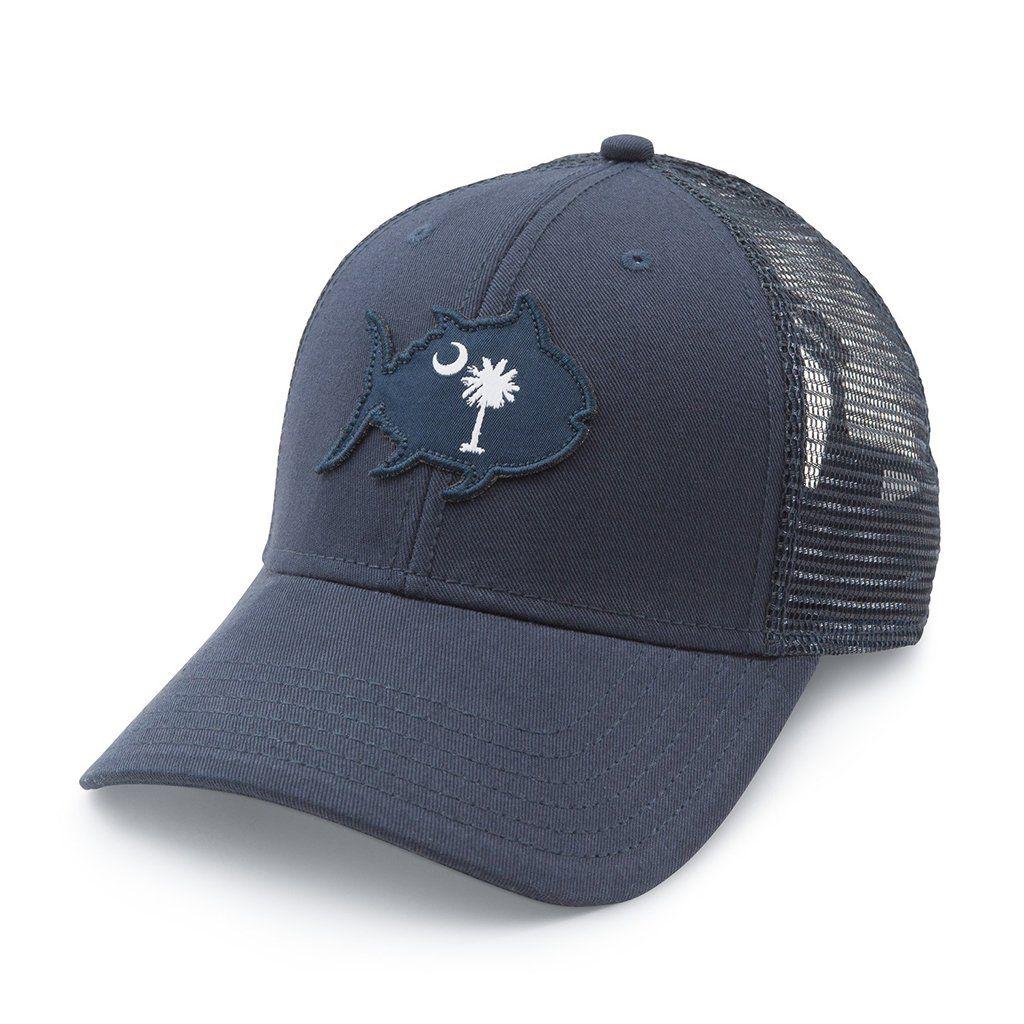 091653867f2 South Carolina Skipjack State Trucker Hat in Navy by Southern Tide ...