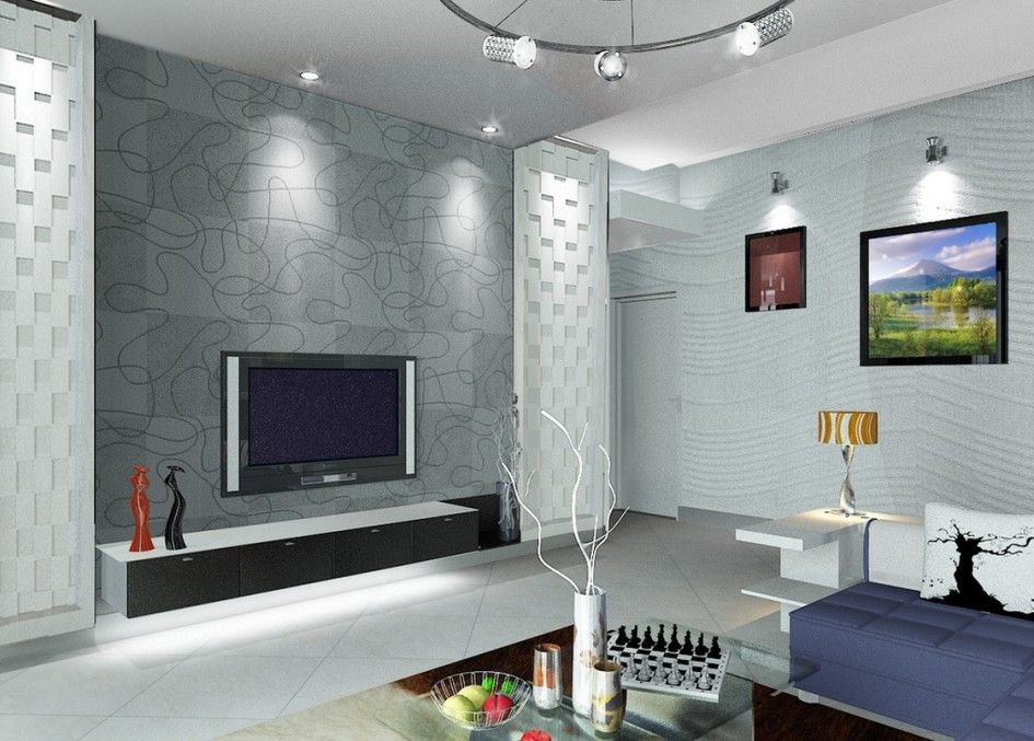 Wall Decor Tiles Living Room Inspiring Living Room Interior Featuring Tv With