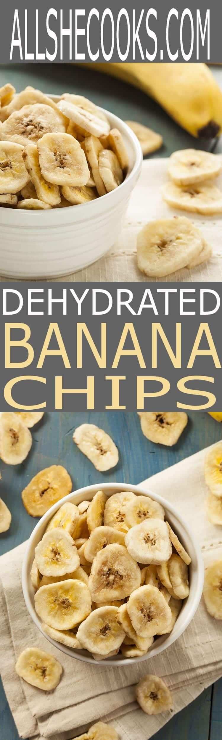 Dehydrated Banana Chips are easy to make at home with or