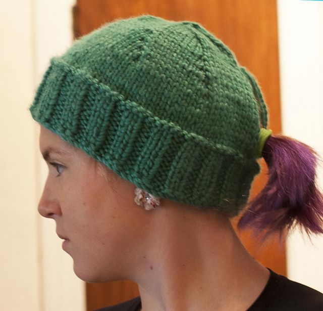a3243cc41 Ravelry: Project Gallery for Quick Ponytail Hat pattern by Kristina ...