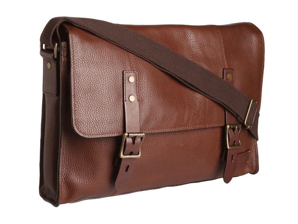 0d70a49382 Cole Haan Men's Greenwich Laptop Messenger Bag - Woodbury Grain Brown - $175