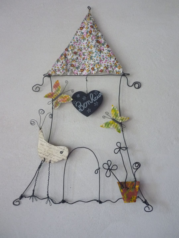 la maison du bonheur 2 cr ation en fil de fer papier. Black Bedroom Furniture Sets. Home Design Ideas