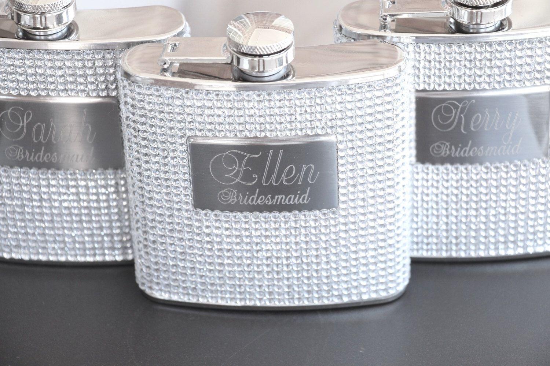 3 bridesmaid gift personalized bridesmaid flask custom