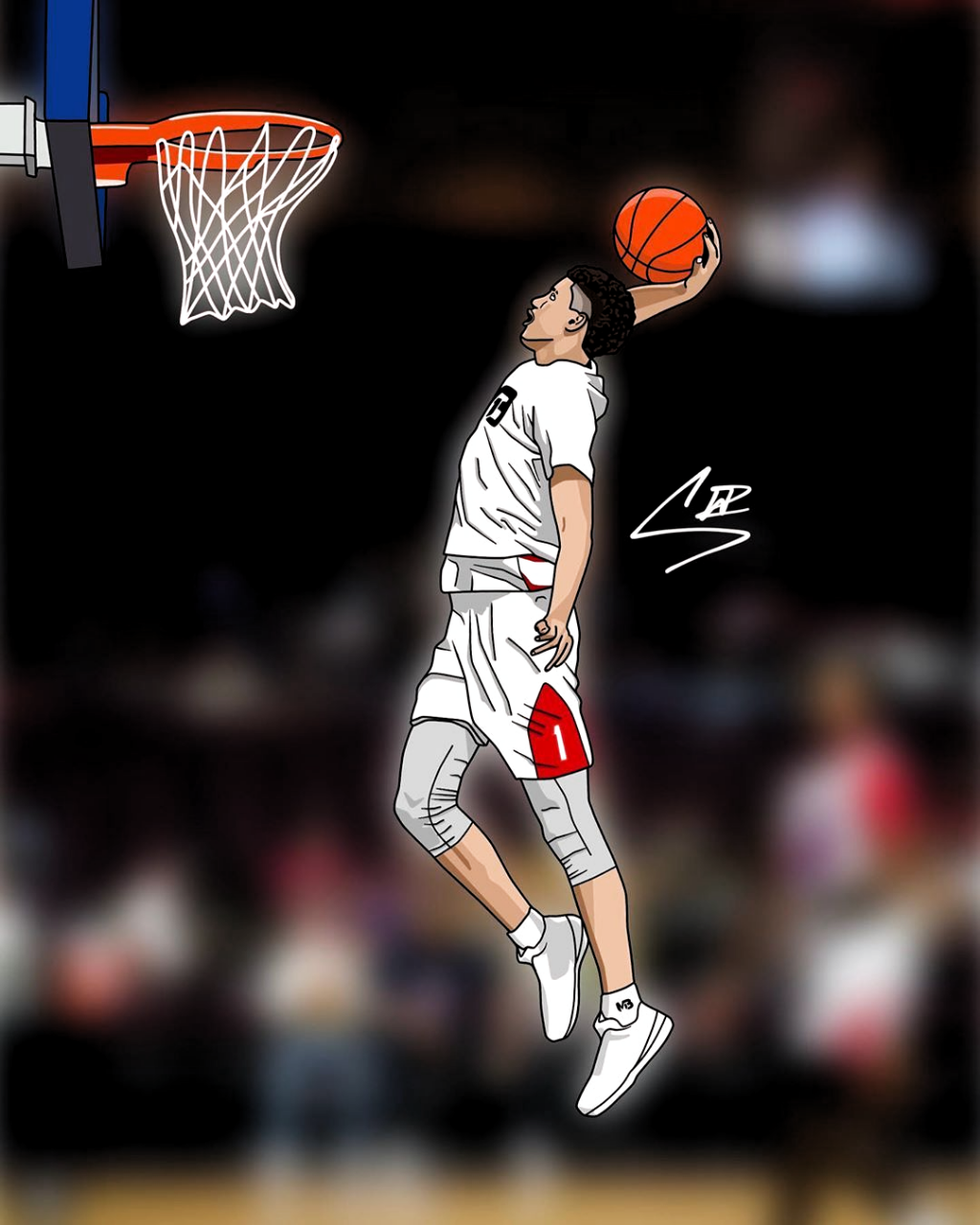 Follow For Cartoon On Instagram Art Of Lamelo Ball Tag Melo To Get Him To Notice Please In 2020 Lamelo Ball Nba Wallpapers Basketball Wallpapers Hd