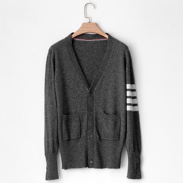 ac1f1c840e Sparsil Women Men Autumn Cashmere Blend Thin Cardigan Sweater V-Neck  Patchwork Style Knitted Short Sweaters