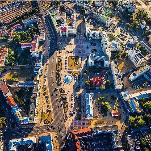 Сердце ❤️ Минска.  Автор: @zweizwei #minskgood #tvoyminsk #minsk #belarus #minskcity #minskgram