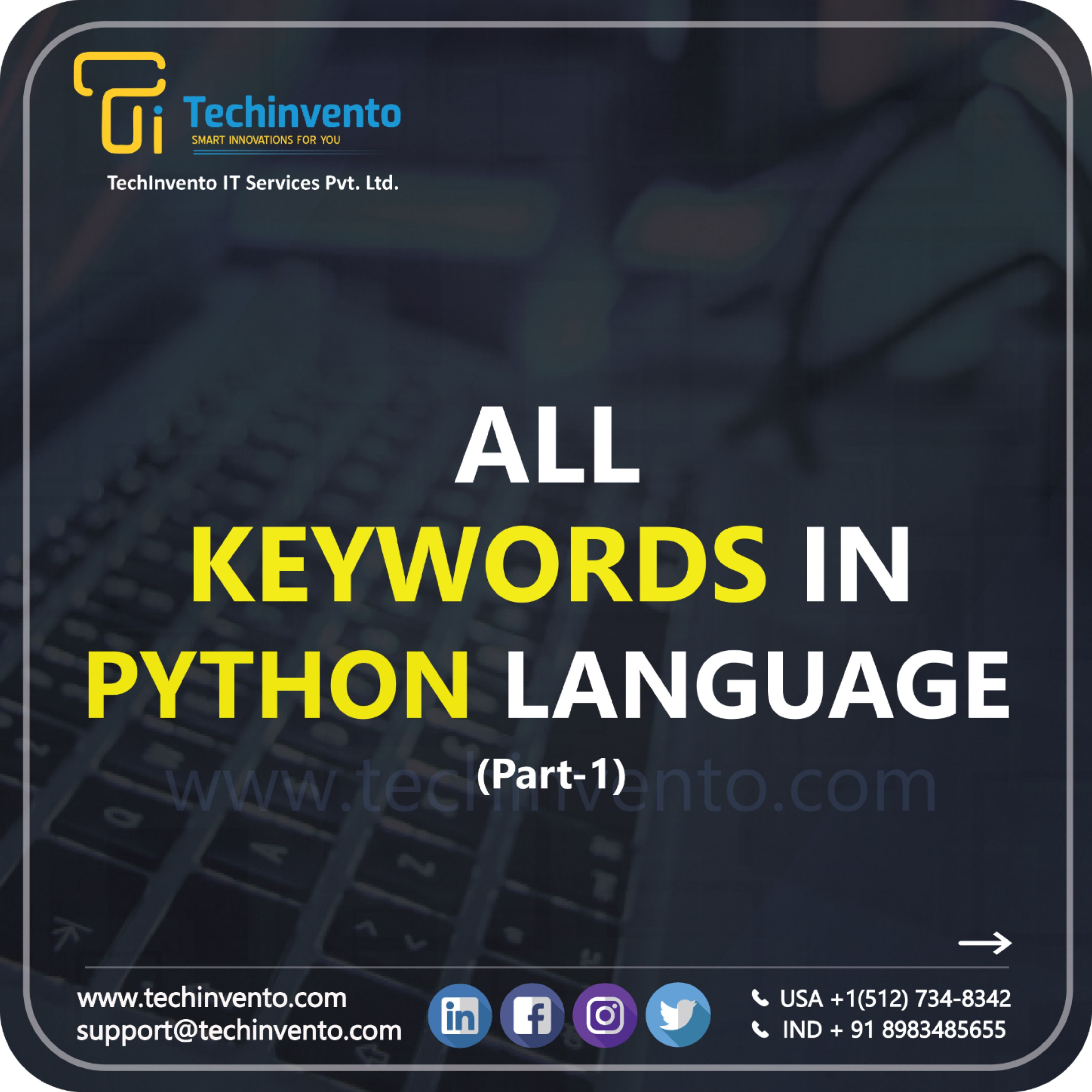 Keywords Are The Reserved Words In Python We Cannot Use A