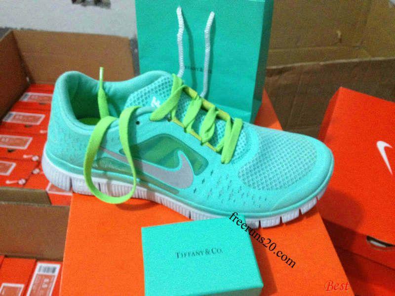 the best attitude e421a e48b7 Nike Free Run 3 Womens Tiffany Blue Silver Medium Spring Green Lace Round  Tiffany   CO