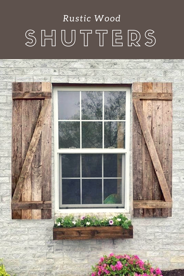 Rustic Wood Shutters Decorative Wood Shutters Farmhouse Window