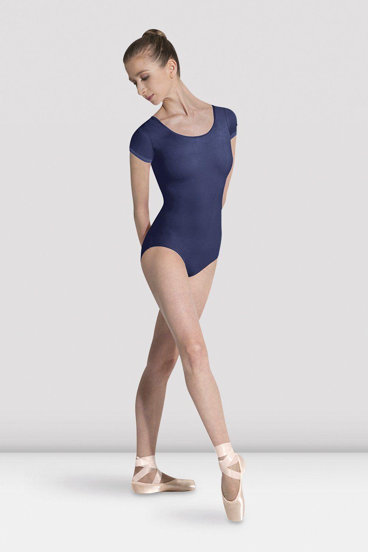 New Quality lady or girl ballet dance mesh insert cap-sleeved leotard